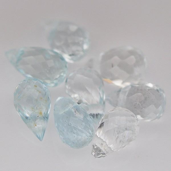 พลอยอะความาลีน (Aquamarine) พลอยธรรมชาติแท้ น้ำหนัก 3.15 กะรัต