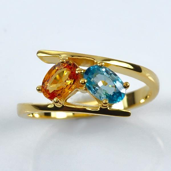 แหวนทองแท้ พลอยวันเกิด (made to order)