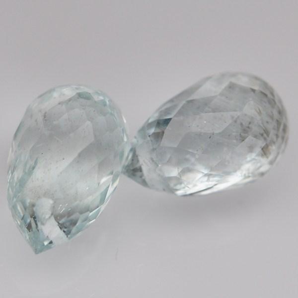 พลอยอะความาลีน (Aquamarine) พลอยธรรมชาติแท้ น้ำหนัก 3 กะรัต