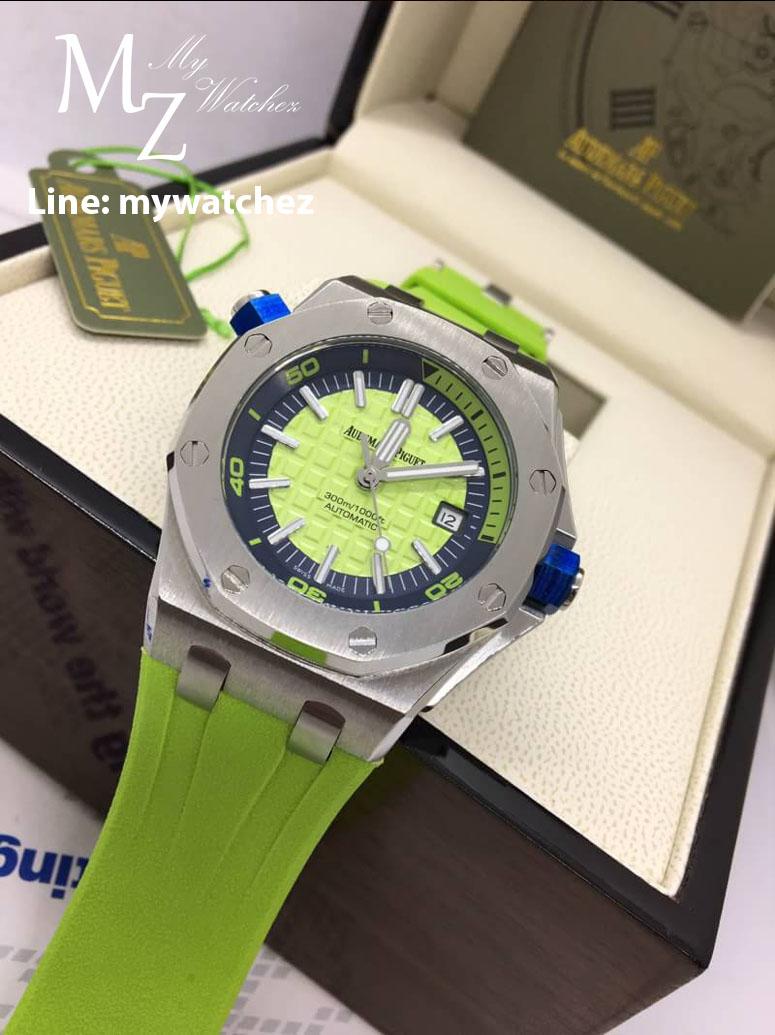 Audemars Piguet Royal Oak Offshore 15710 ST - Green Dial