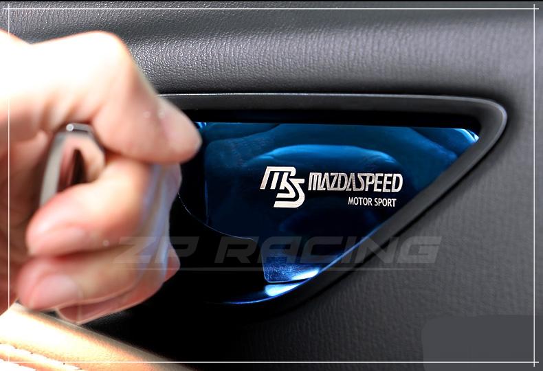 เบ้ารองมือเปิดด้านใน MAZDASPEED สีน้ำเงิน CX-3