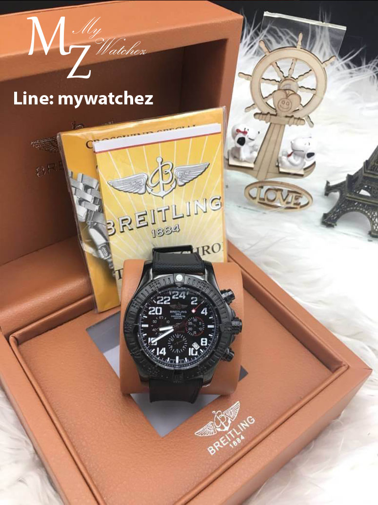 Breitling Avenger Hurricane 45 - Black Military Strap