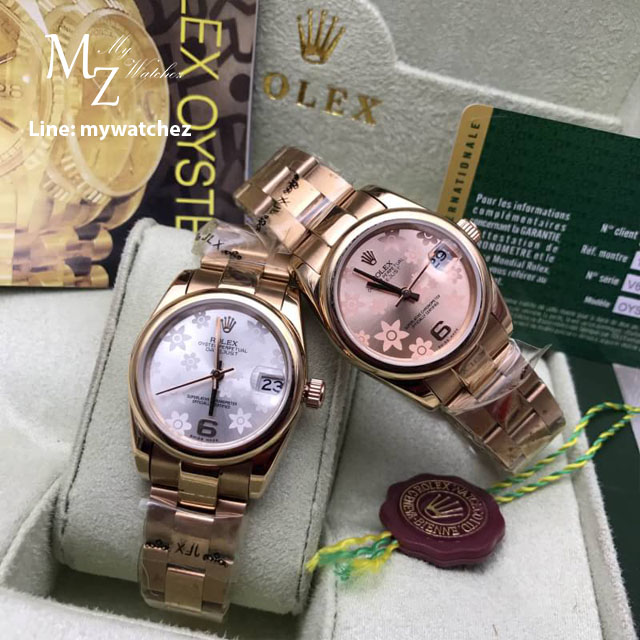 Rolex Datejust Automatic Pink and Silver Flora Edition - Rose Gold