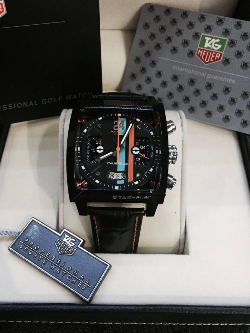 """TAG Monaco 24 Cal.36 Black(40.5 mm.)Black-PVD Concept""""Race Cares Of The 24 Of Le Mans"""
