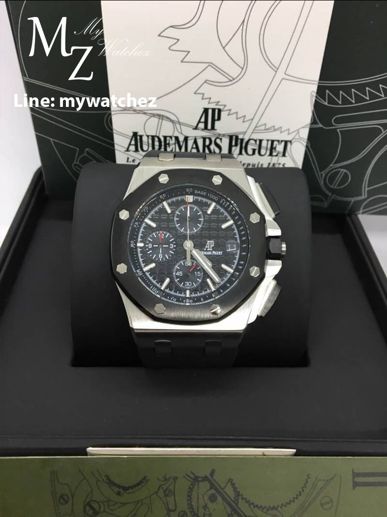 AP Royal Oak Offshore Chronograph Ceramic Black Dial