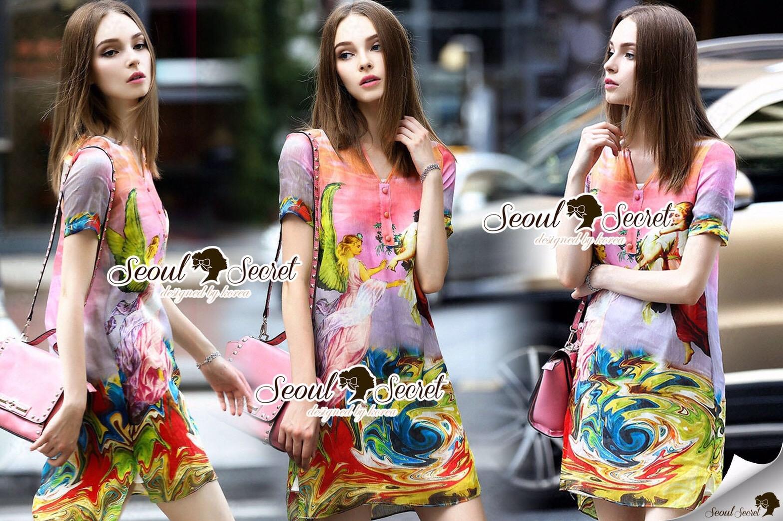 Closet Seoul Secret Say's... Fairly Lanla Color Dress