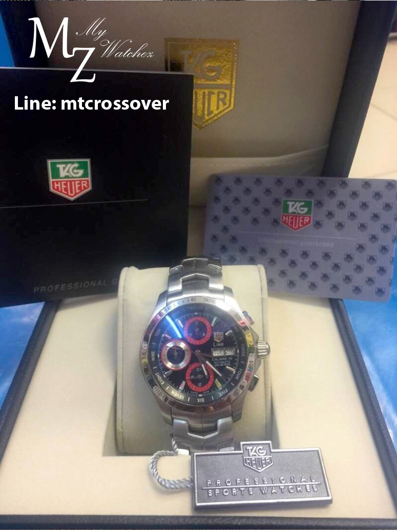 TAG HEUER Link Calibre16 Day-Date Automatic St Steel and Red Dial