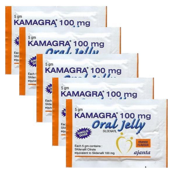 เจลลี่เสริมการแข็งตัว แพ็ค 5 ซอง (Kamagra Oral Jelly)