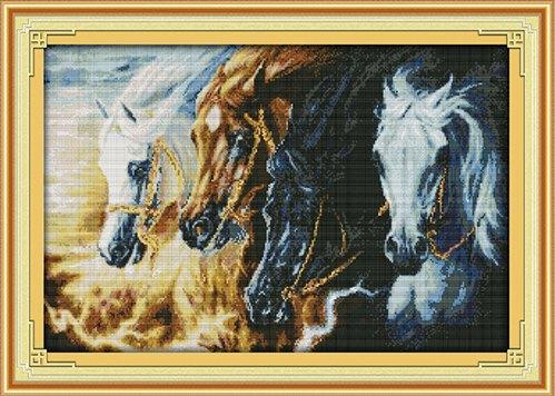 Horse gallop (ไม่พิมพ์/พิมพ์ลาย)
