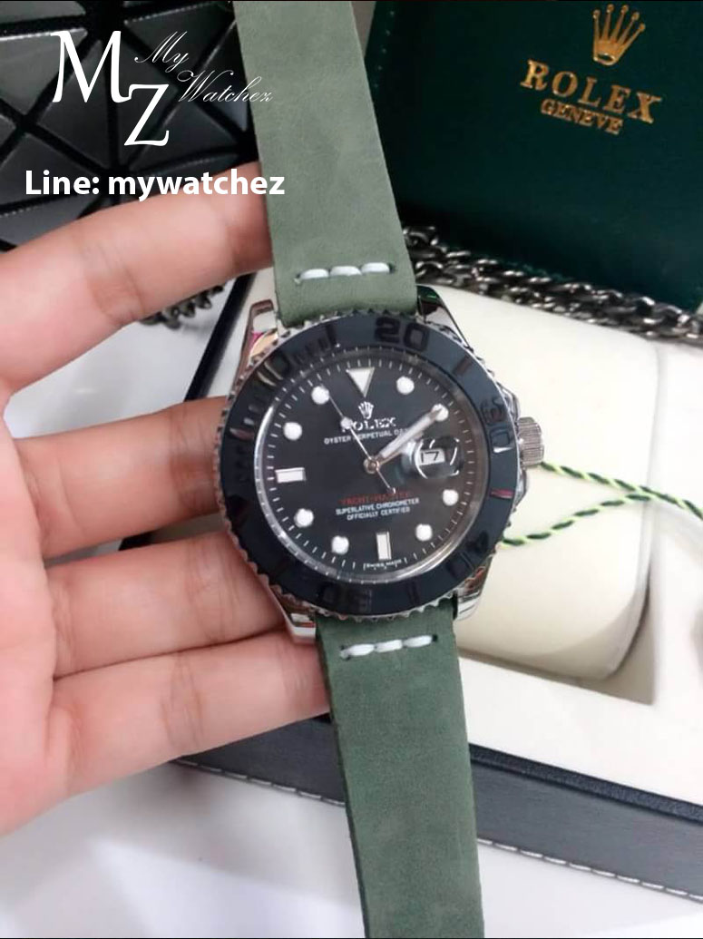 Rolex Yacth-Master Ceramic Bezel with Stainless Steel - Forest Vintage Strap