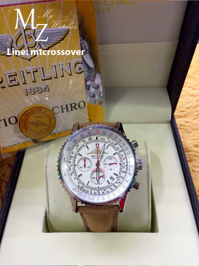 Breitling Navitimer Aopa - Stainless Case with Brown Leather