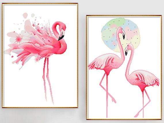 Flamingo (เดี่ยว/คู่)(พิมพ์ลาย)