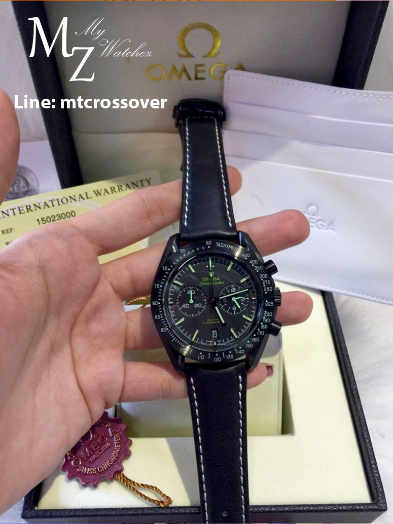 Omega Speedmaster Black Ceramic Pitch Black - Green Bezel