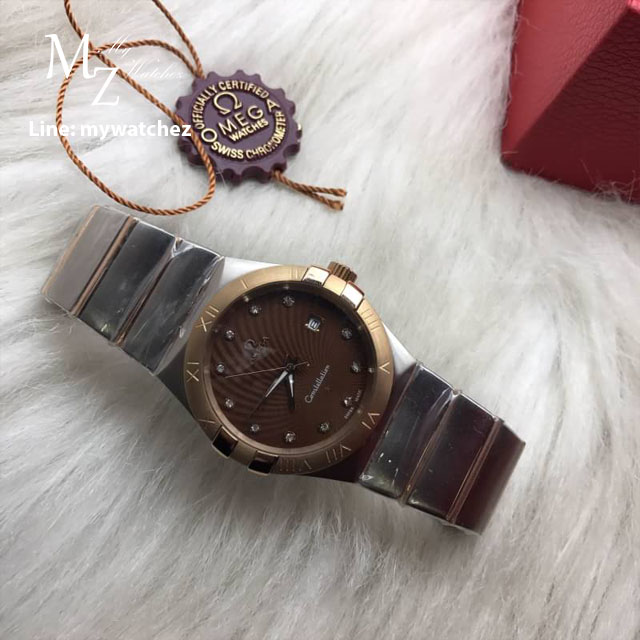 Omega Constellation Co-Axial 38MM - Two Tone Chocolate