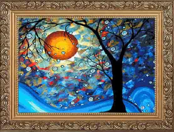 ภาพวาดสีน้ำมันแวน-โก๊ะ-ต้นไม้ดวงจันทร์