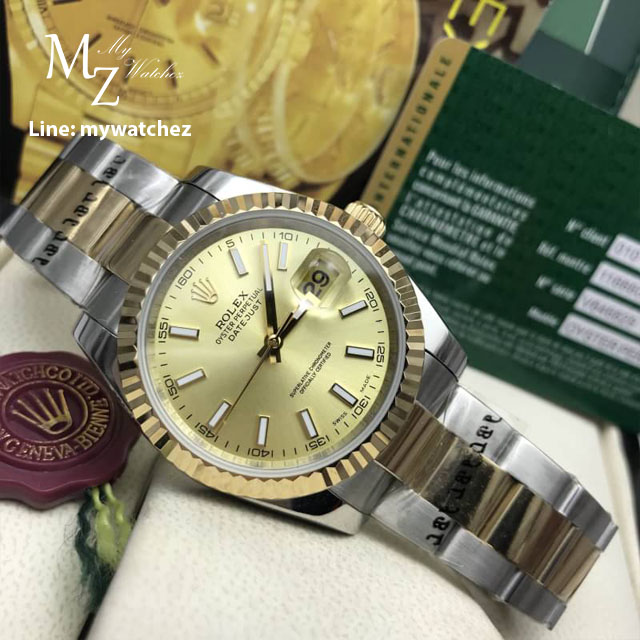 Rolex Oyster Perpetual Datejust 41 two tone Basel 2017 - Gold Dial