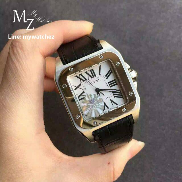 นาฬิกา Cartier Santos XL100 ก๊อปเกรด Mirror และ เกรด Swiss