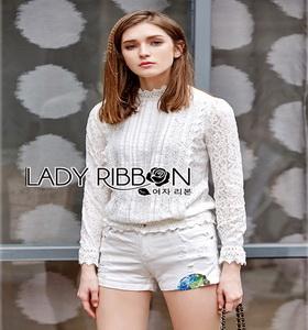 Lady Ribbon Lace Blouse