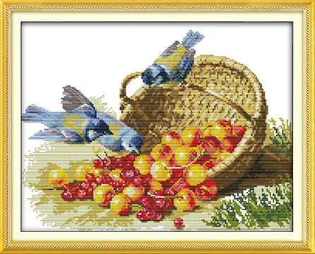 Birds & Fruits (ไม่พิมพ์/พิมพ์ลาย)