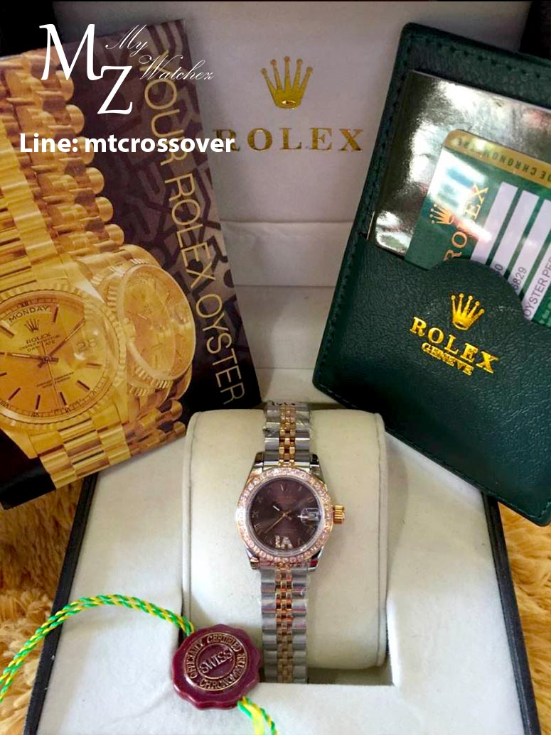 Rolex Datejust Lady Two Tone - Brown Dial and Stainless