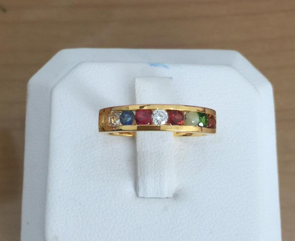งานสั่งทำแหวนนพเก้า ทองแท้ เพชรแท้ พร้อมใบเซอร์