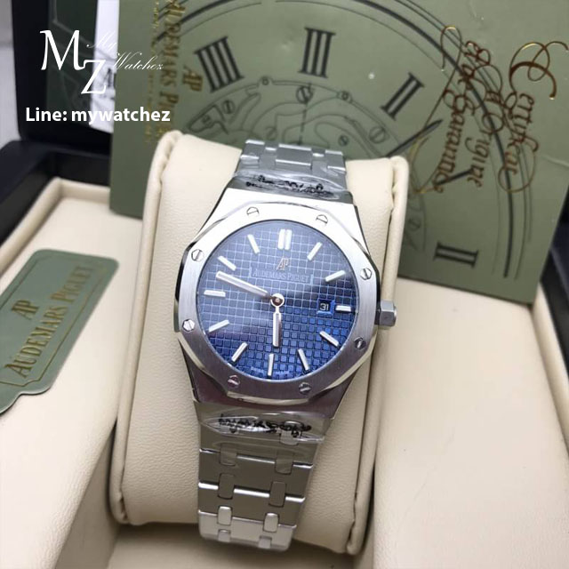Audemars Piguet Royal Oak Lady - REF. #67651ST.ZZ.1261ST.01 (Stainless ฺBlue Dial)