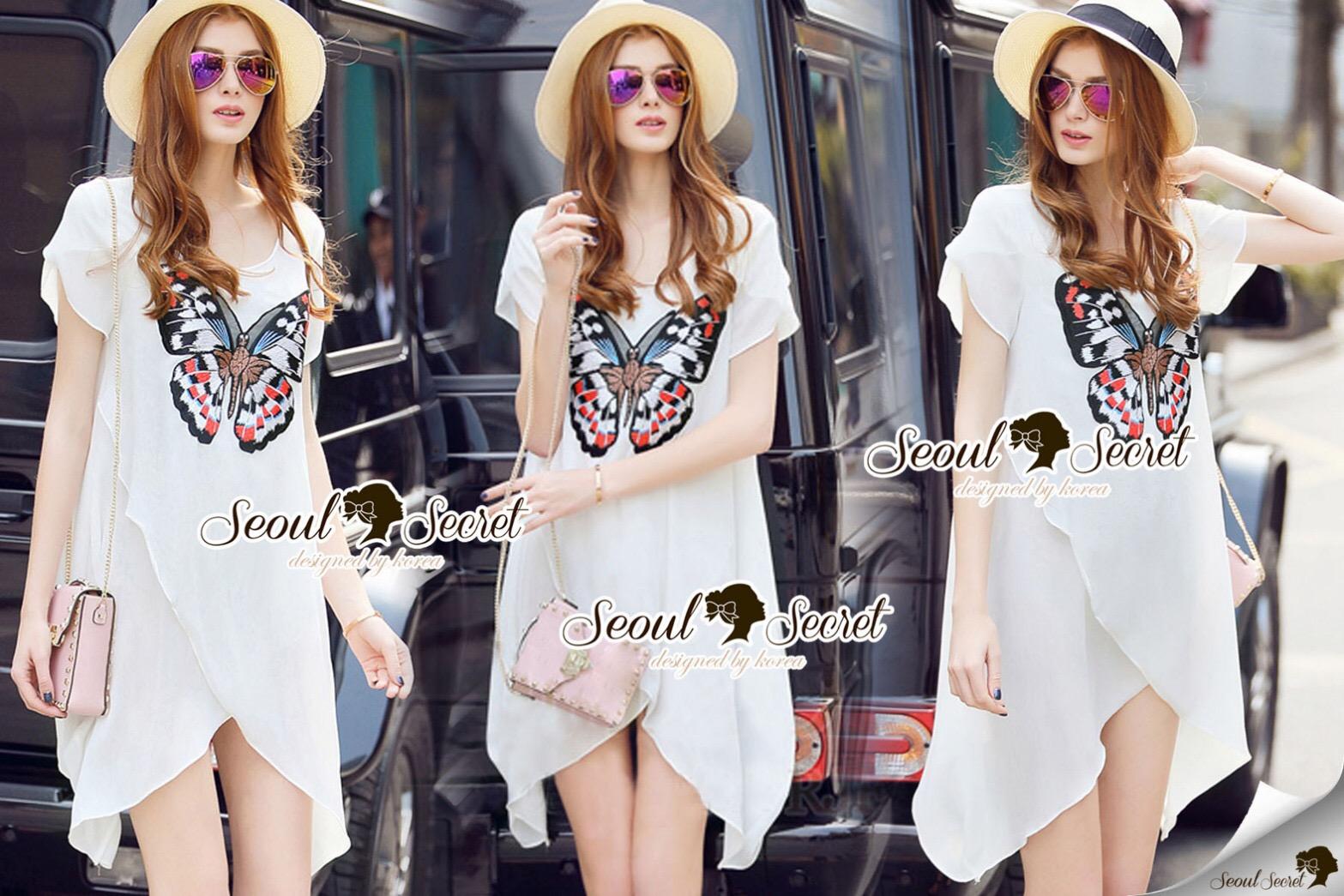 Lady Ribbon Korea Brand SS12060616 Seoul Secret Say's... Lofty Butterfly Knit Dress