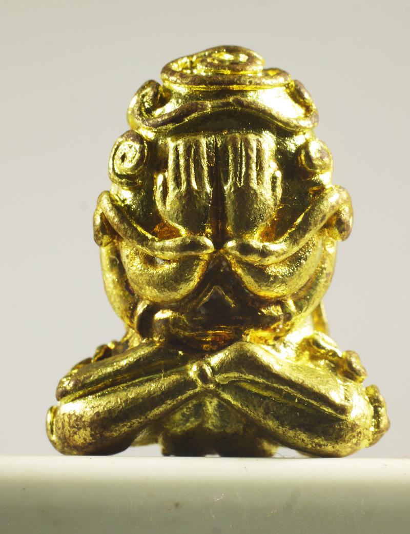 พระปิดตาหลวงปู่ทองสุข เนื้อทองระฆัง