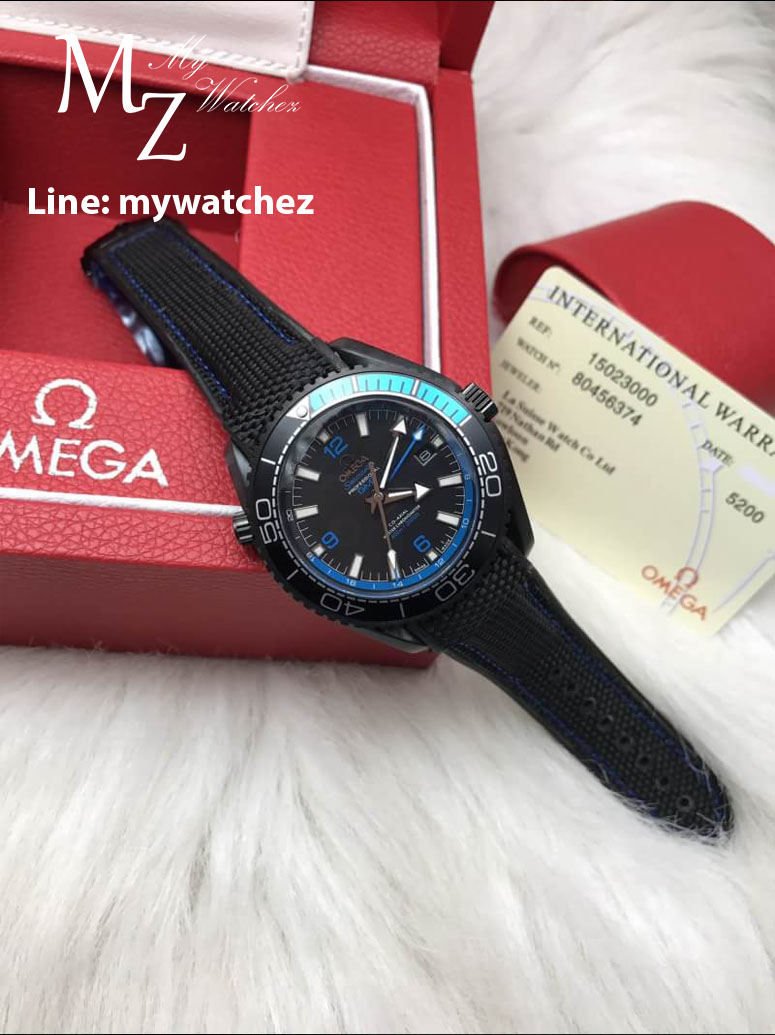 Omega Seamaster Planet Ocean 600M GMT Deep Black Collection/Blue Edition