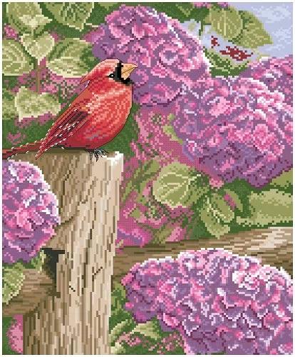 Hydrangea bird (ไม่พิมพ์ลาย)