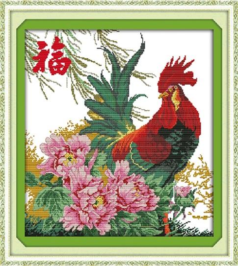 Blessing cock (ไม่พิมพ์/พิมพ์ลาย)