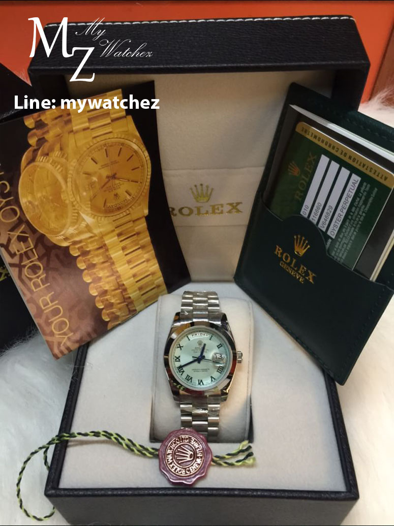 Rolex Day Date II - Blue Platinum Ref# 218206-83216