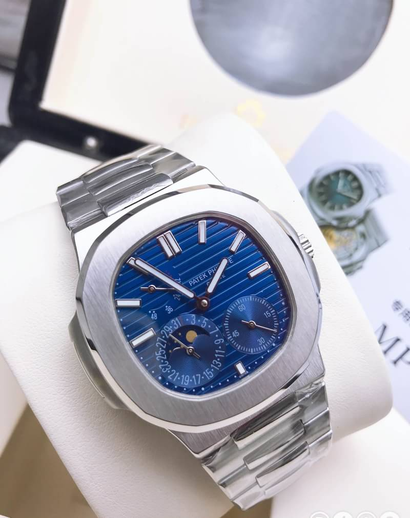 Patek Philippe Nautilus Moonphase 5712/1A-001 Stainless Steel Blue Dial Swiss - PF Factory