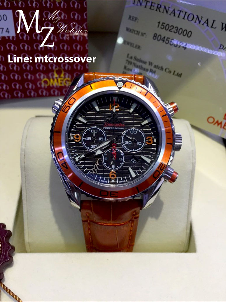 OMEGA Seamaster 007 Quantum of Solace Chronograph - Orange Leather Strap