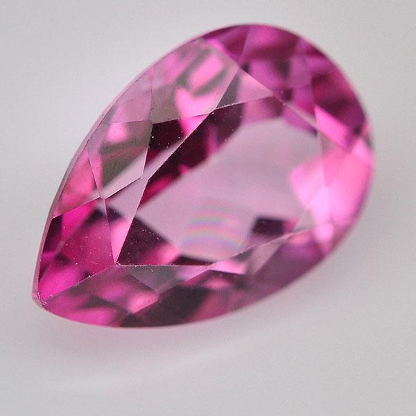 พลอยพิงค์โทแพซ (Pink Topaz) พลอยธรรมชาติแท้น้ำหนัก 2.42 กะรัต