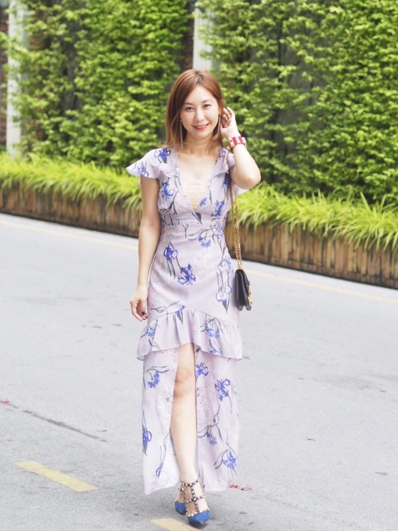 เสื้อผ้าแฟชั่นเกาหลี Lady Ribbon Thailand Normal Ally Present Exhibition.S summer dress