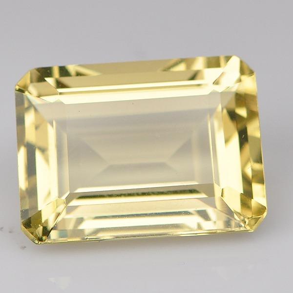 พลอยเลมอนควอตซ์ (Lemon Quartz) พลอยธรรมชาติแท้ น้ำหนัก 10.63 กะรัต