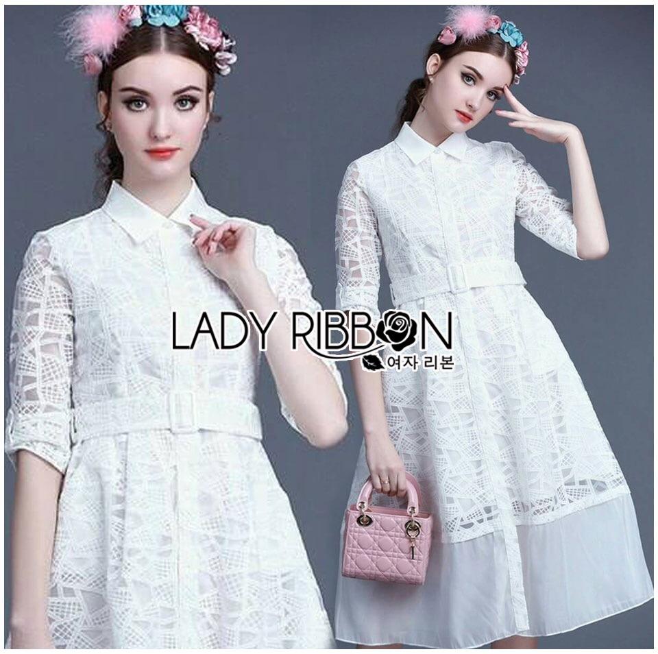 Lady Ribbon's Made &#x1F380 Lady Janice Sweet Sexy Lace Evening Dress