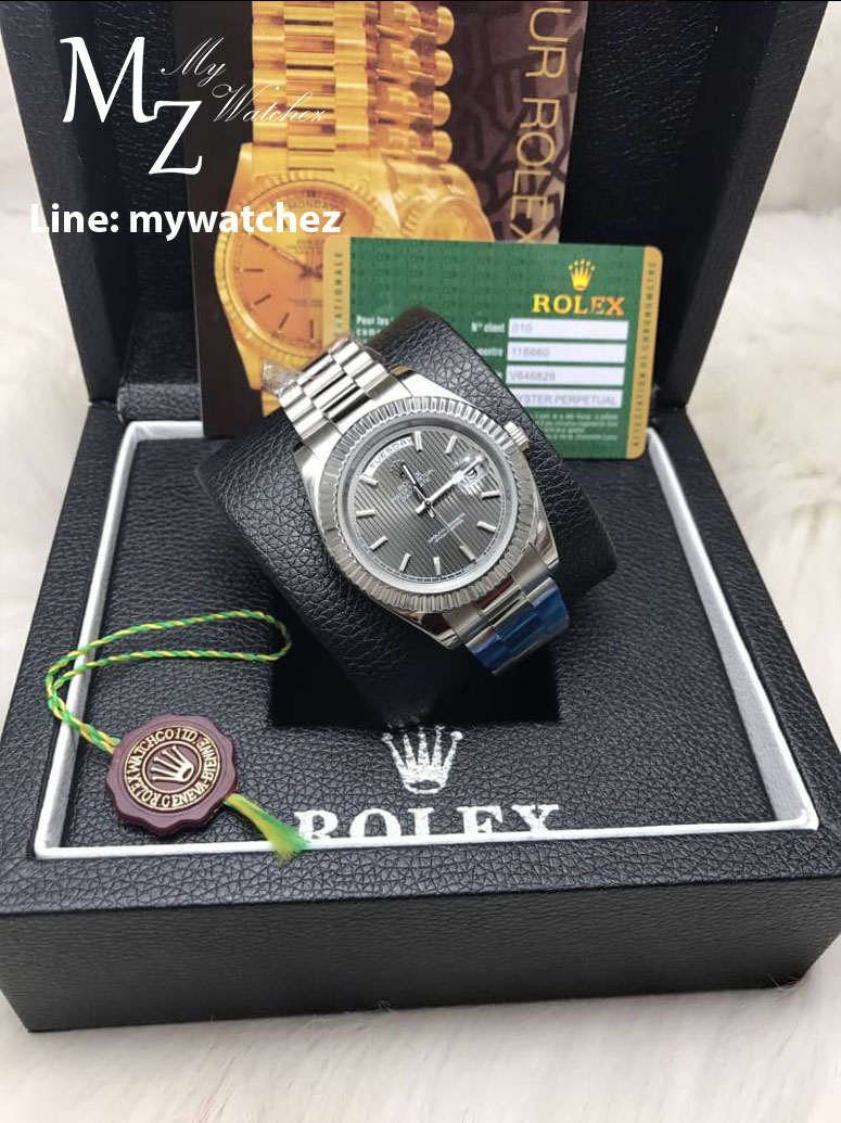 Rolex Day-Date Stainless Grey Dial Ref:228235