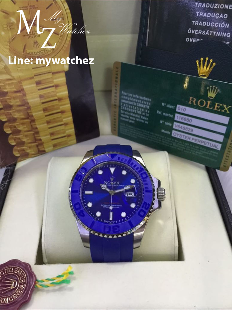 Rolex Yacth-Master Ceramic Bezel with ฺBlue Dial (Everose and Stainless)