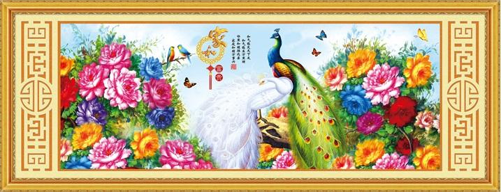Rich Peacock & Peony (พิมพ์ลาย)