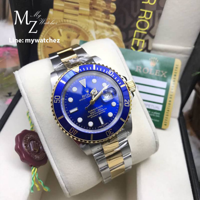 Rolex Submariner Two-Tone 166610 - Blue Dial
