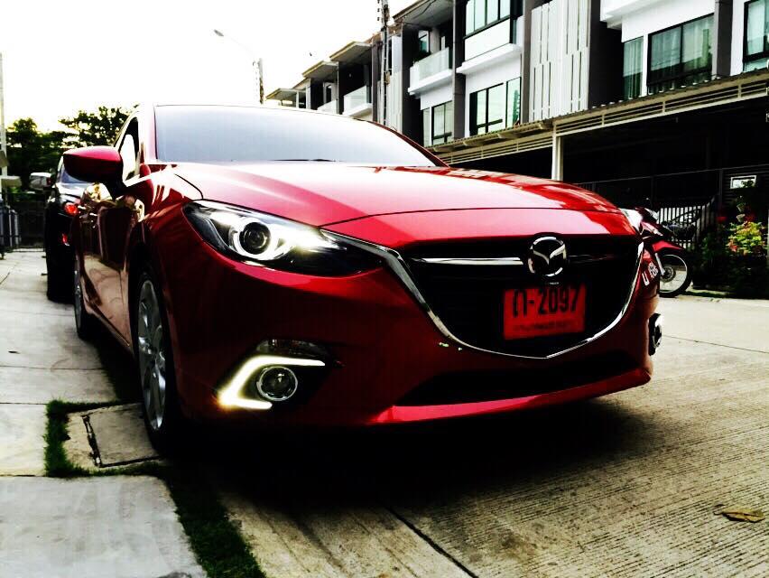 ไฟ Daylight ทรง C-Type Mazda 3