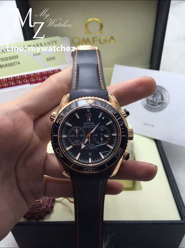 OMEGA SEAMASTER PLANET OCEAN 600 M OMEGA CO-AXIAL CHRONOGRAPH - Rose Gold/Black