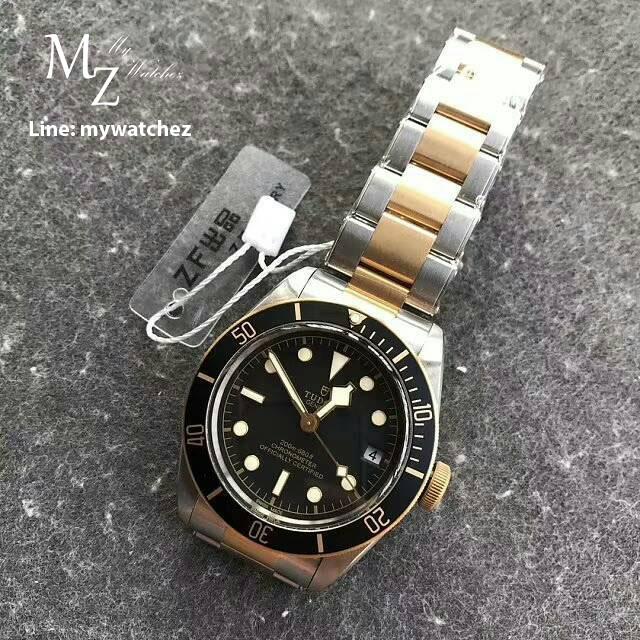 นาฬิกาข้อมือ Tudor Black Bay Two Tone ก๊อปเกรด Mirror และเกรด Swiss