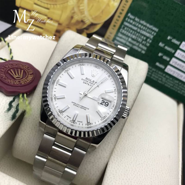 Rolex Oyster Perpetual Datejust 41 Basel 2017 - White Dial