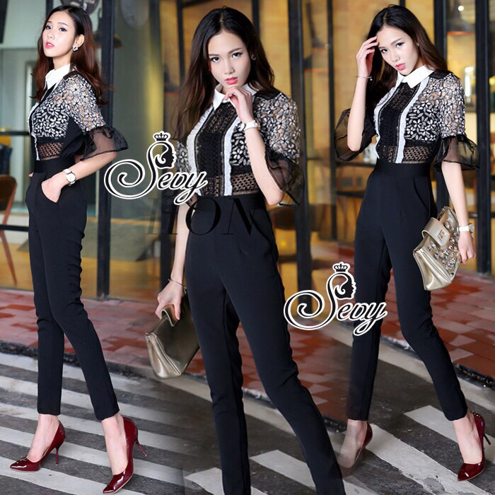 Brand Sevy Smart Casual SP Florida Lace Jumpsuit