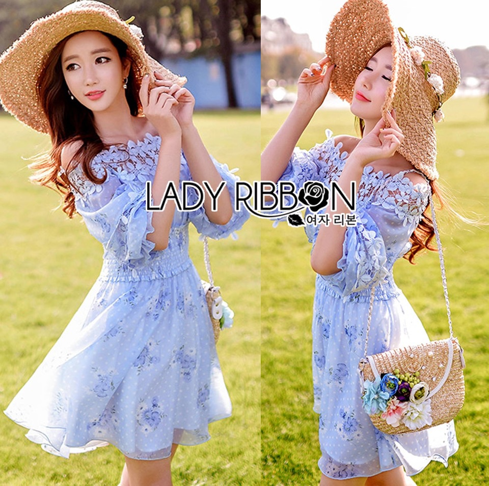 Lady Ribbon Korea Dress ace Silk Dress เดรส