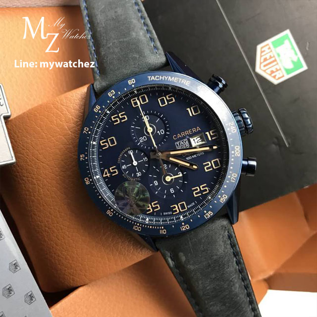 TAG Heuer Carrera Calibre 16 Day-Date Chronograph ฺSapphire Blue