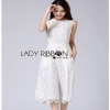 Lady Ribbon Lace Jumpsuit เลดี้ริบบอน จัมป์สูทผ้าลูกไม้สีขาว